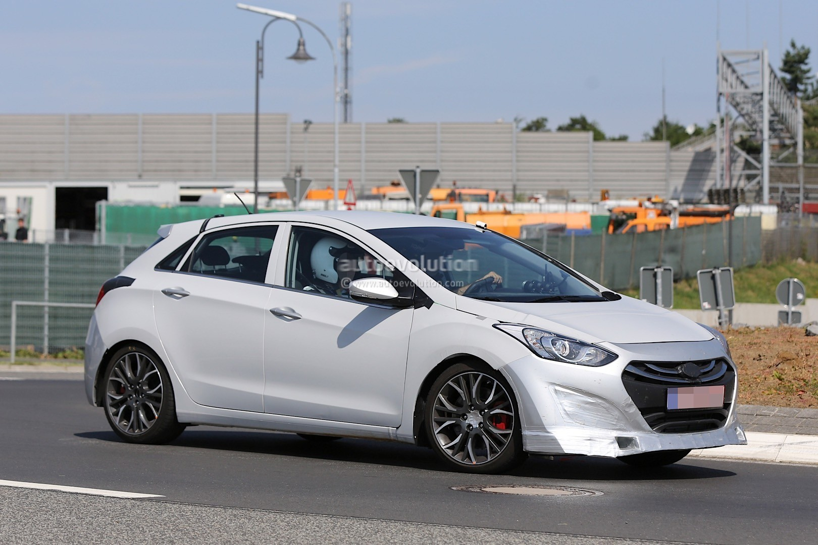 hyundai i30 n series prototype mule spied is this a true hot hatch autoevolution. Black Bedroom Furniture Sets. Home Design Ideas