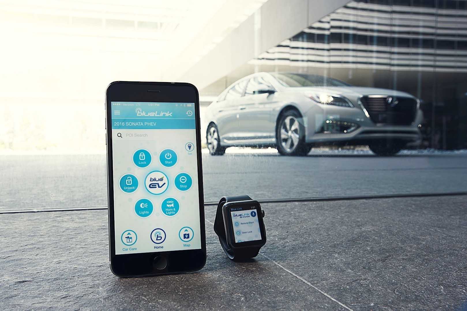 Hyundai Motor Introduces Blue Link App for the Apple Watch - autoevolution