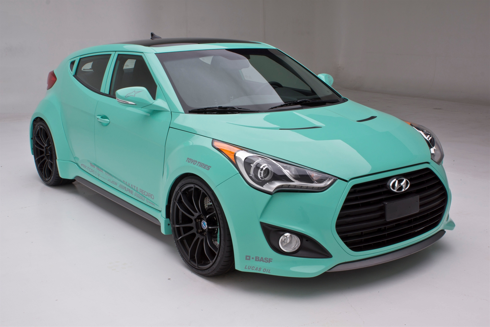 hyundai veloster turbo jp edition concept at 2012 sema. Black Bedroom Furniture Sets. Home Design Ideas