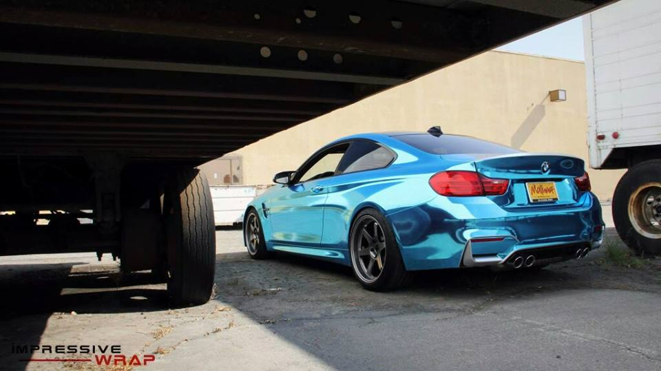 Ice Blue Chrome Bmw M4 Is Not For Anyone Autoevolution