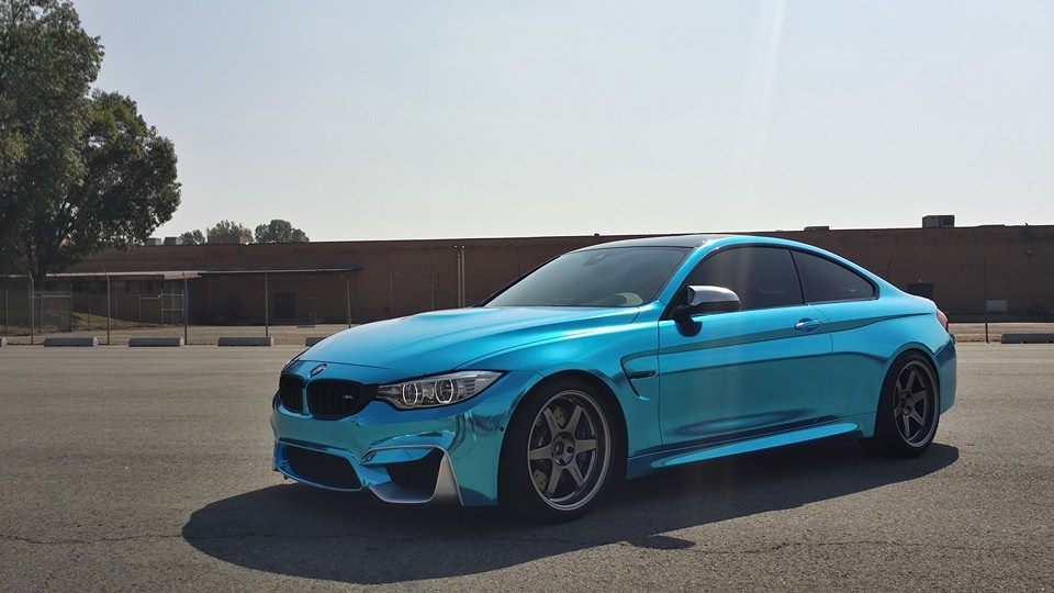 Chrome Car Wrap >> Ice Blue Chrome BMW M4 Is Not for Anyone - autoevolution