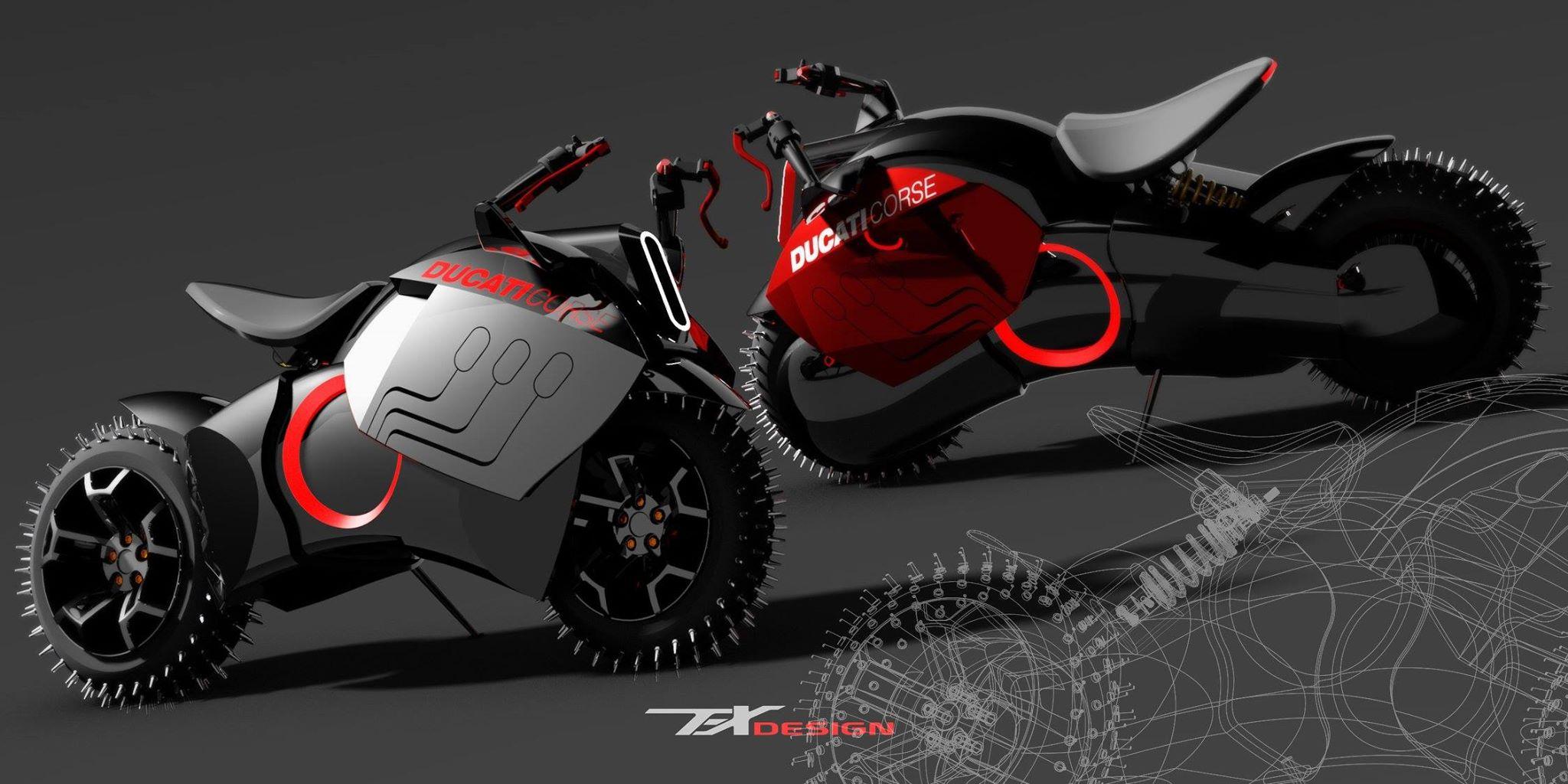 If Ducati Made Electri...