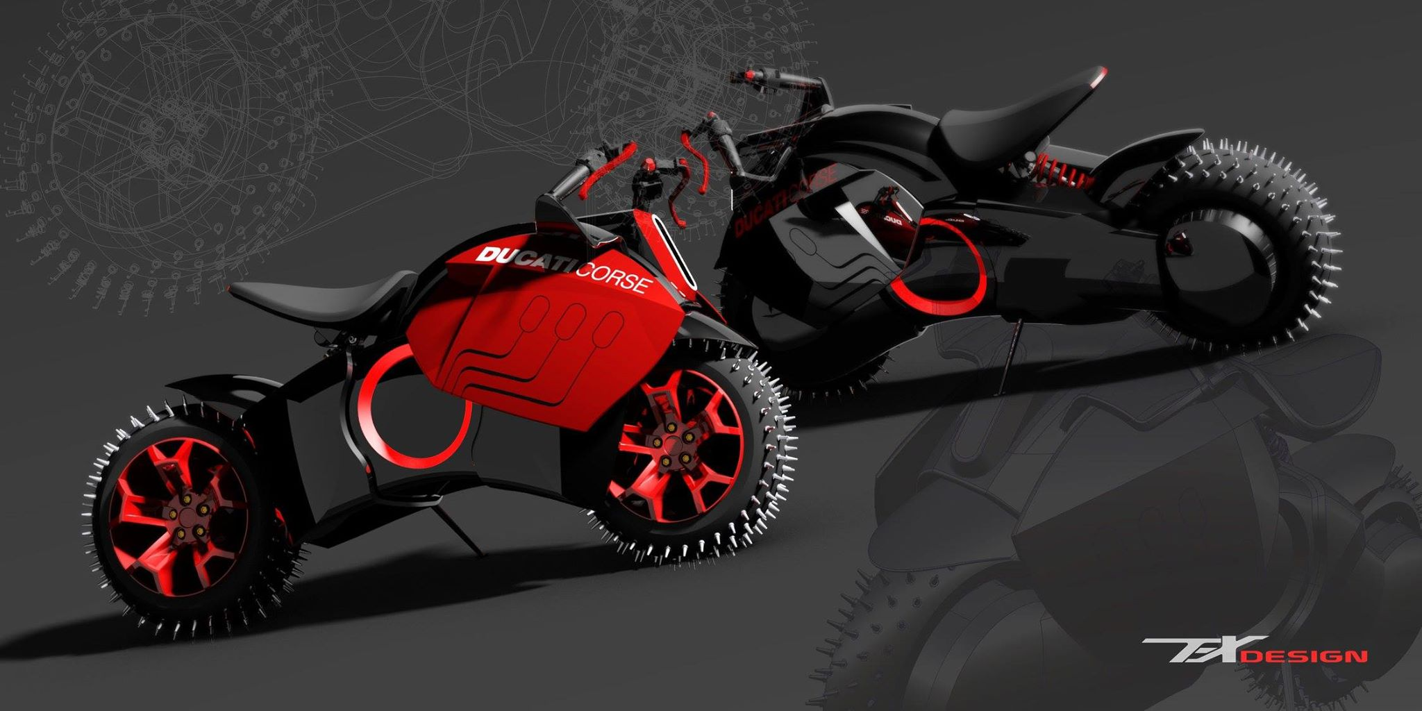 If Ducati Made Electric Bikes They Should Look Like This