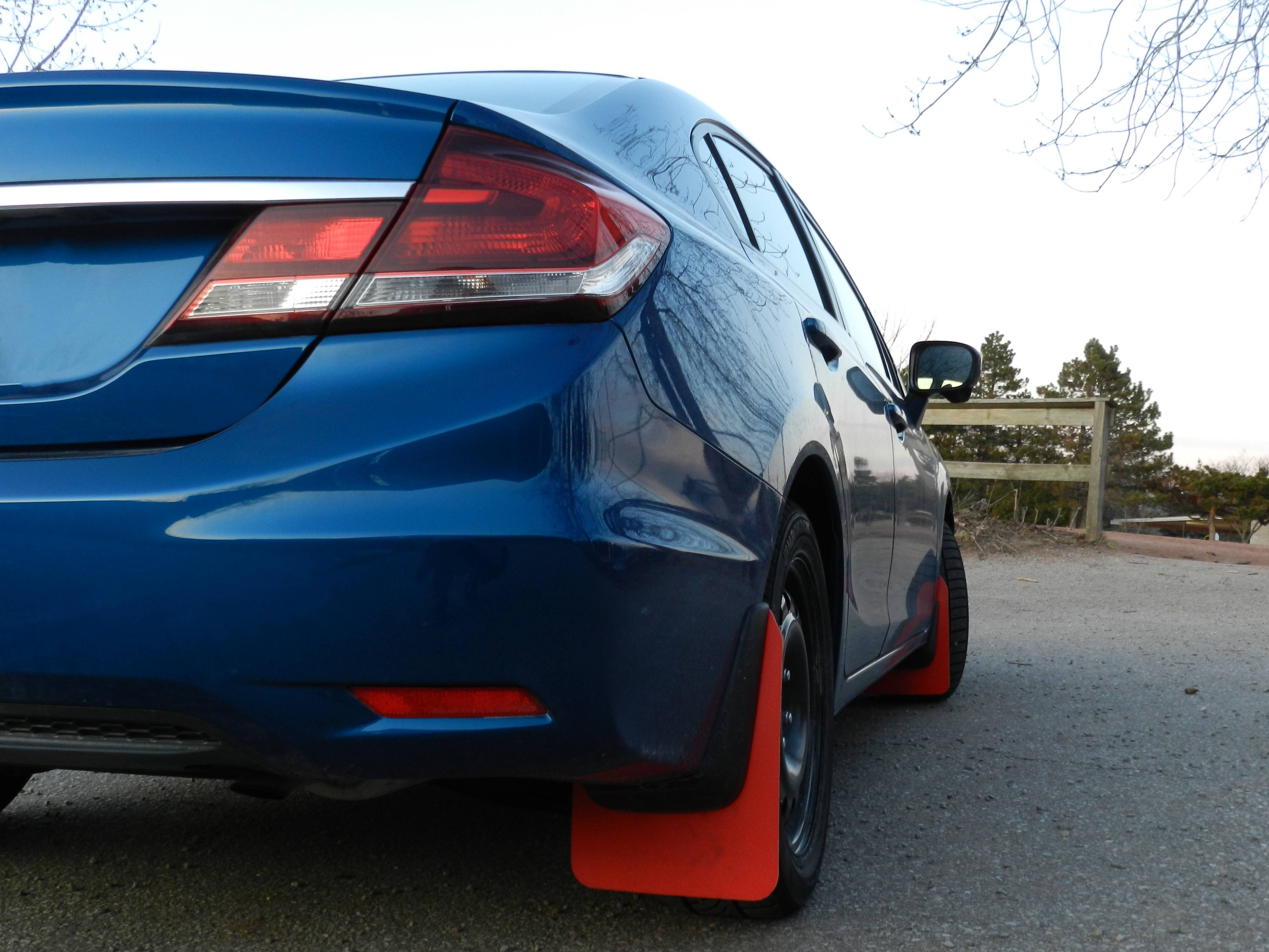 IKEA Cutting Boards Apparently Make Brilliant Mudflaps for a 2015 Honda Civic - autoevolution
