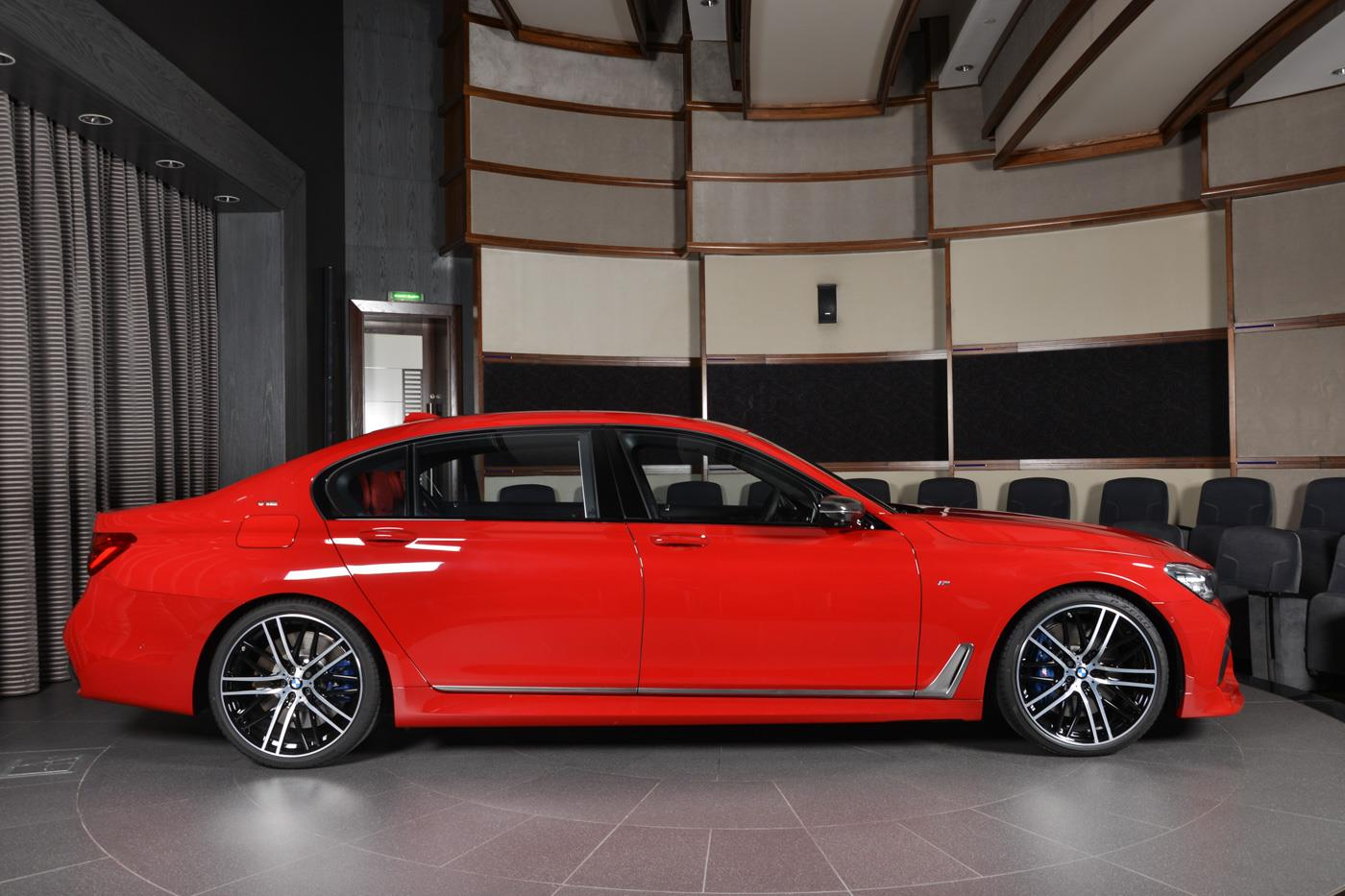 Imola Red Bmw M760li In Abu Dhabi Has Everything