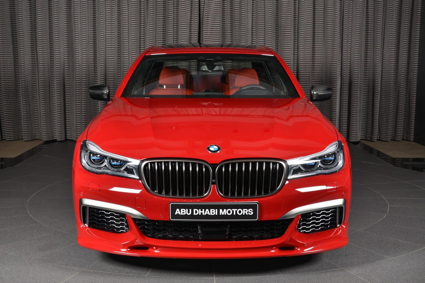Imola Red BMW M760Li in Abu Dhabi Has Everything ...