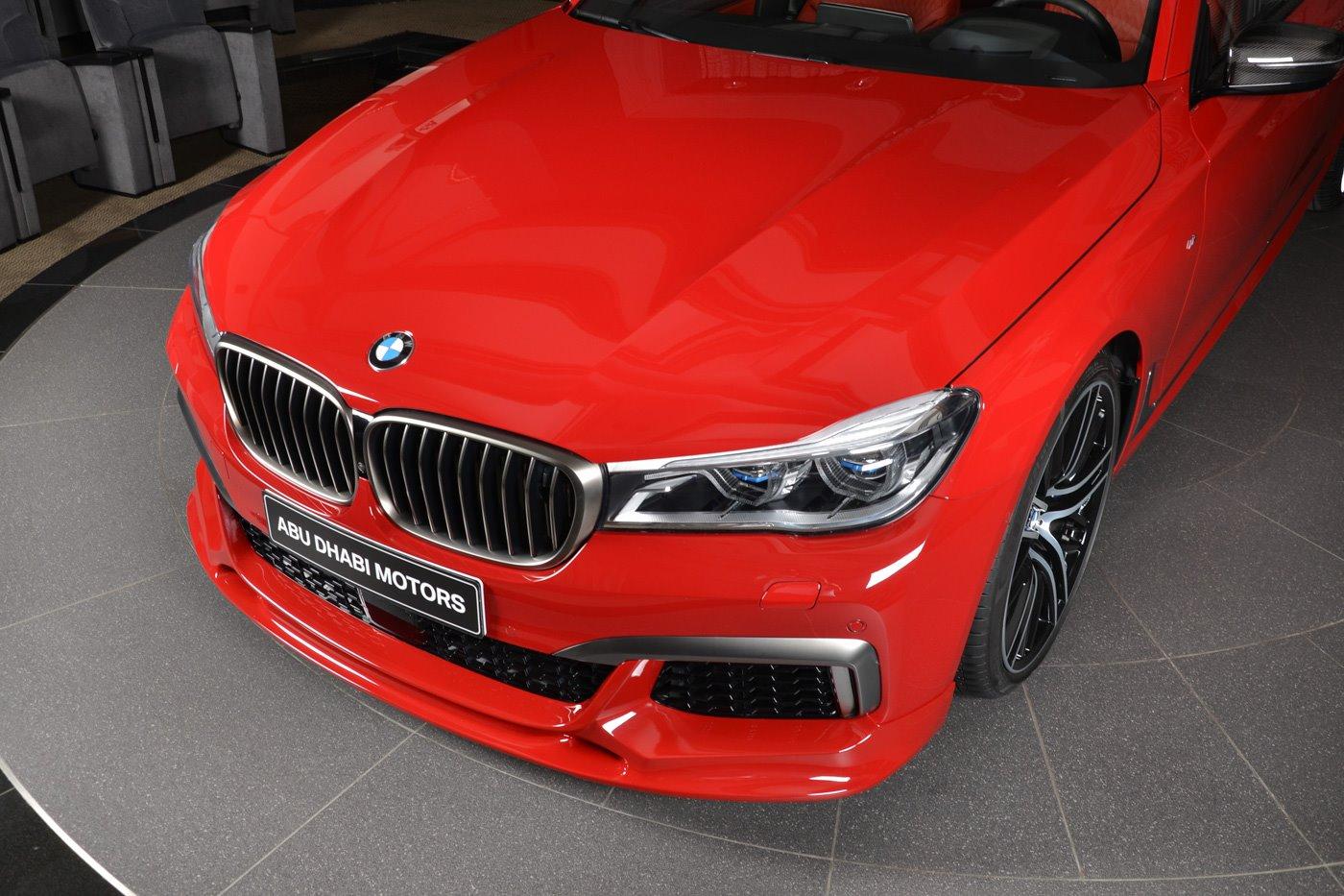 Imola Red Bmw M760li In Abu Dhabi Has Everything