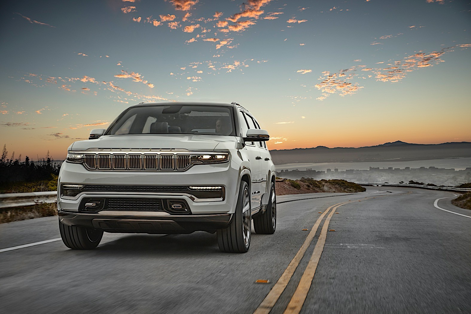 imposing jeep wagoneer revival revealed in arctic ice