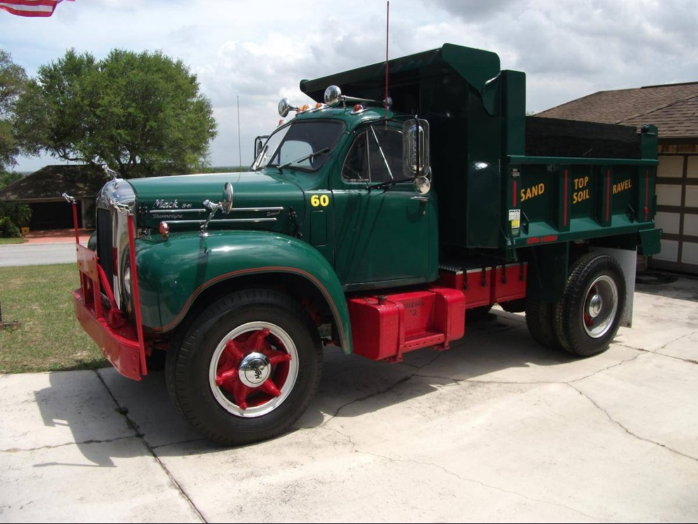 in for a classy cheap 1960 mack b61 dump truck