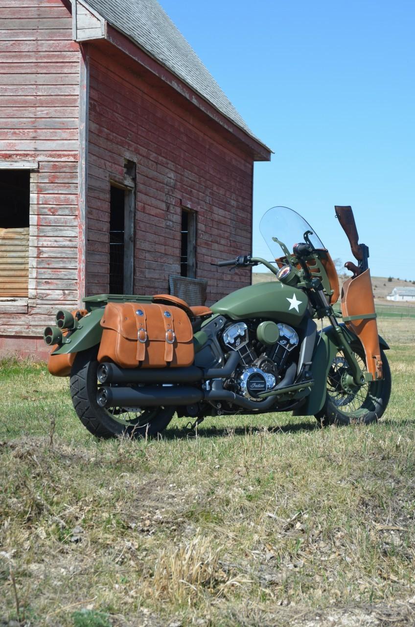 indian custom military scout the debut bike of a custom