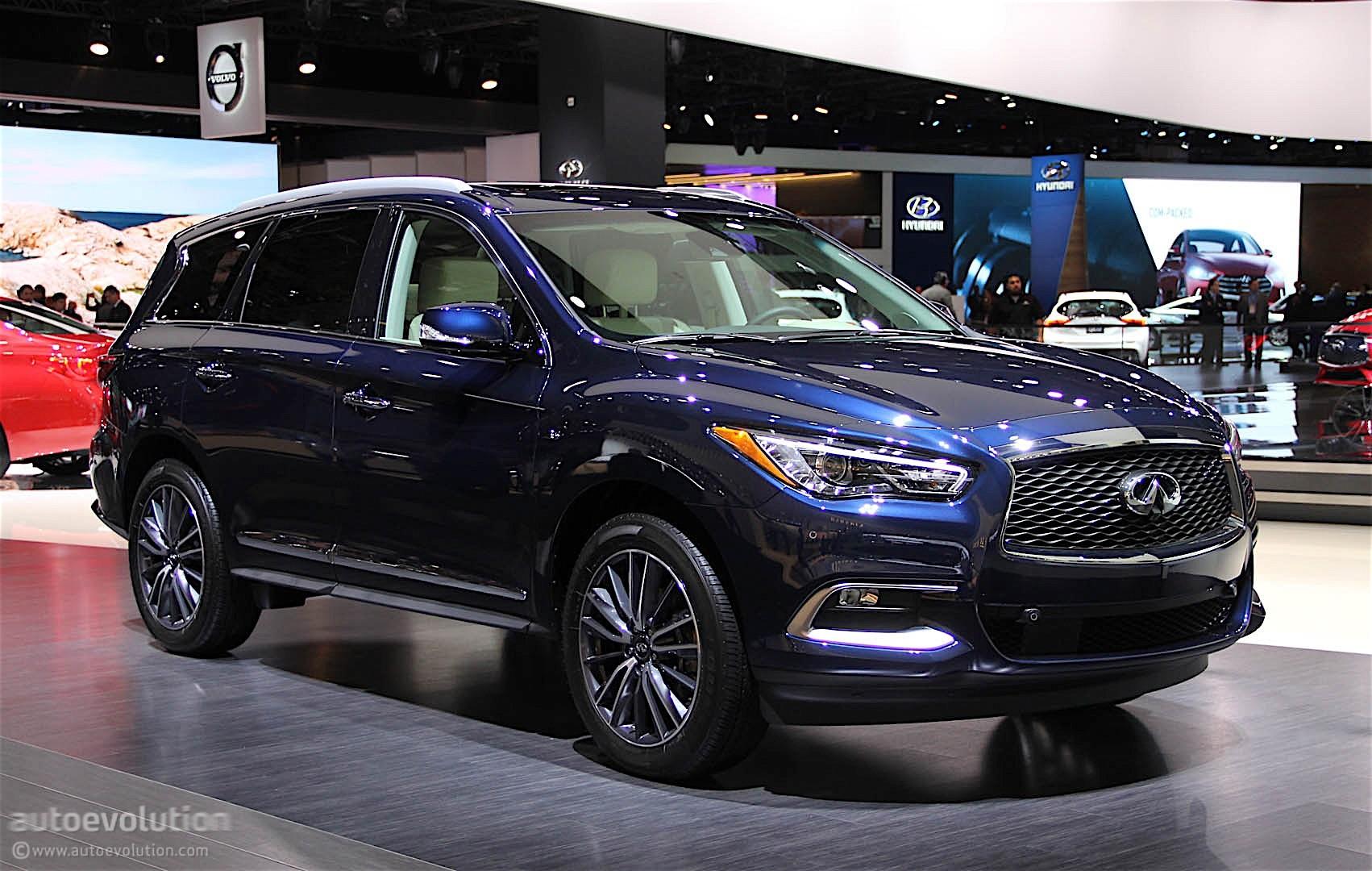 infiniti qx60 shows restyled exterior in detroit autoevolution