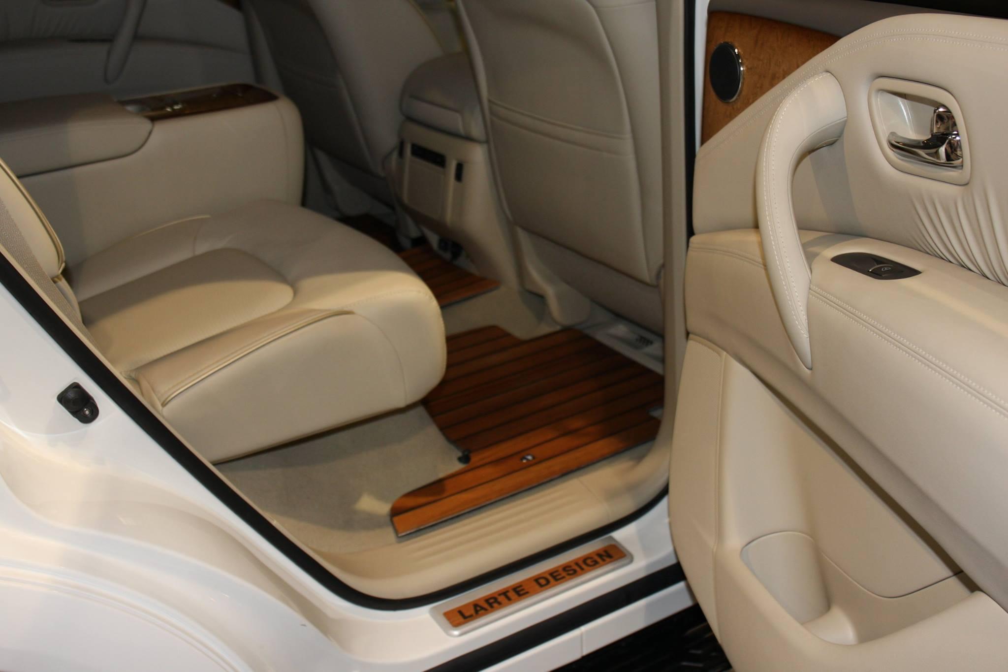 Infiniti Qx80 Interior Gets Decked In Teak Wood Trim