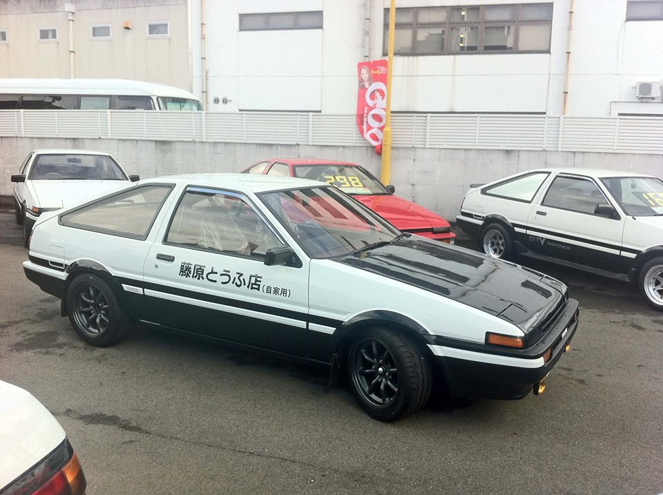 initial d toyota ae 86 replicas at special shop in japan. Black Bedroom Furniture Sets. Home Design Ideas