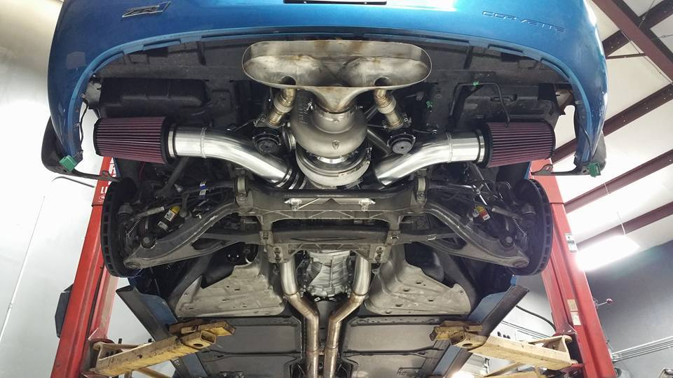 Insane Exhaust System Is Made From A Huge Turbo With Two