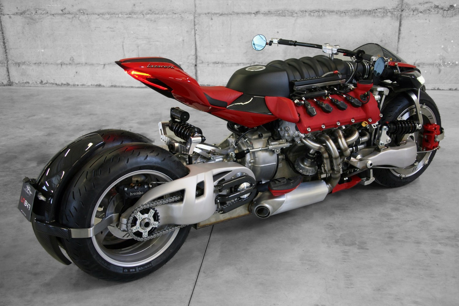 insane lazareth lm 847 bike uses a 470 hp maserati v8. Black Bedroom Furniture Sets. Home Design Ideas