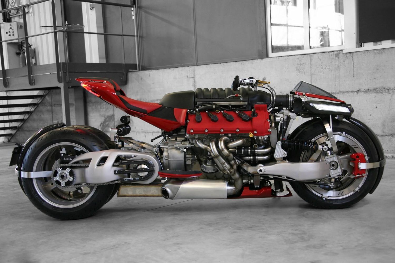 Insane Lazareth Lm 847 Bike Uses A 470 Hp Maserati V8