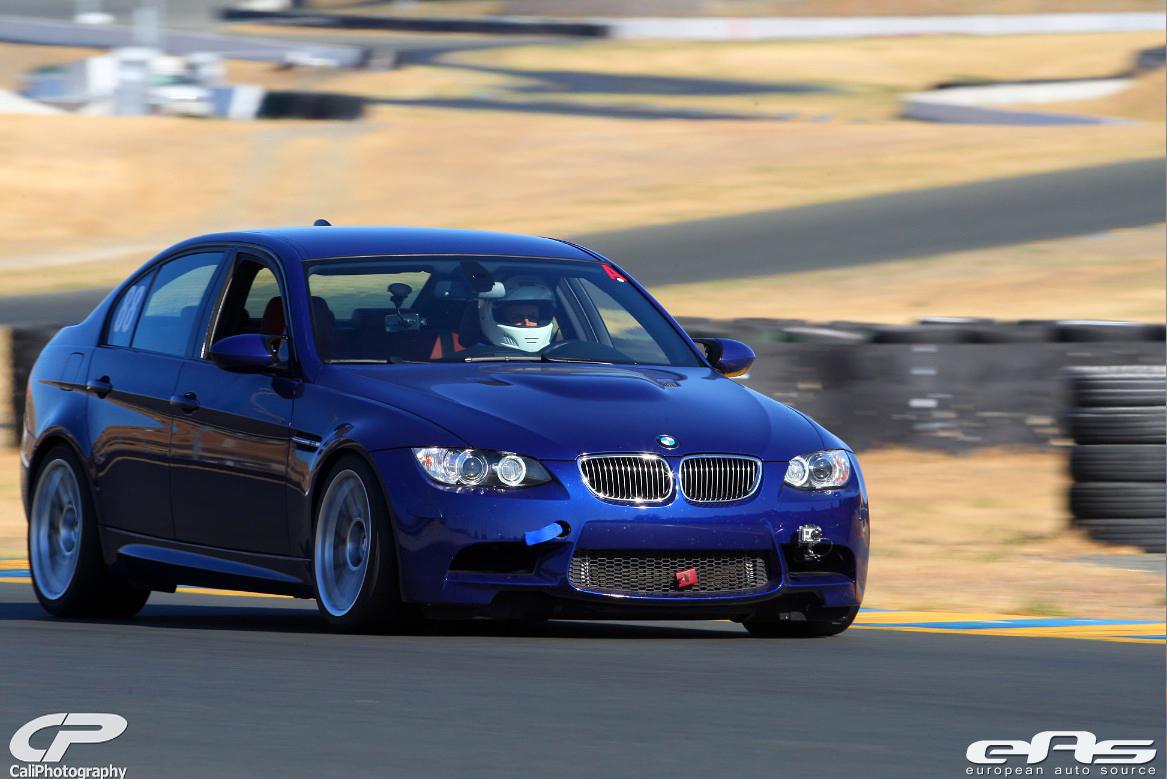 Interlagos Blue Bmw E90 M3 Goes Around Sonoma Raceway