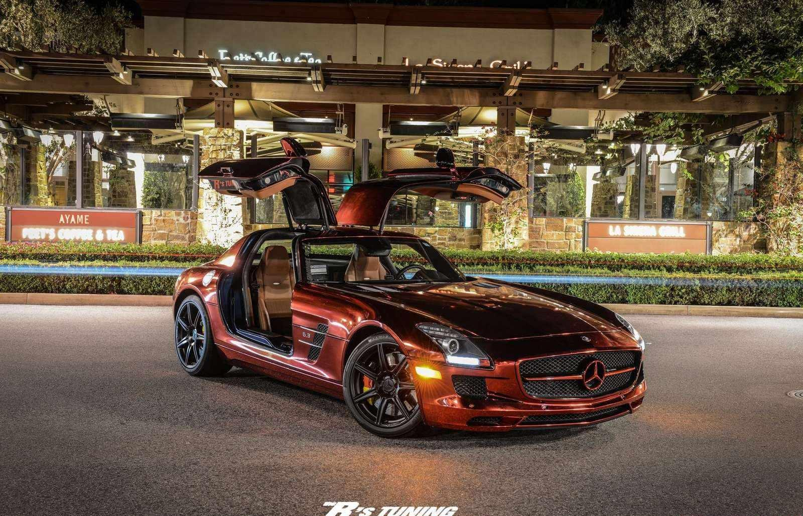 Iron man red chrome sls amg autoevolution for Mercedes benz iron