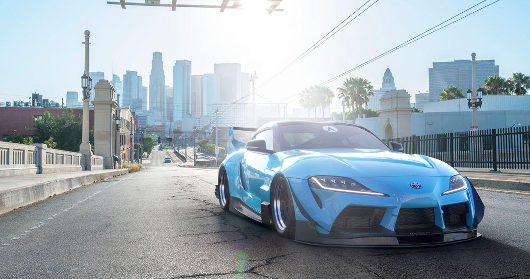 2020 Toyota Supra Widebody Blue