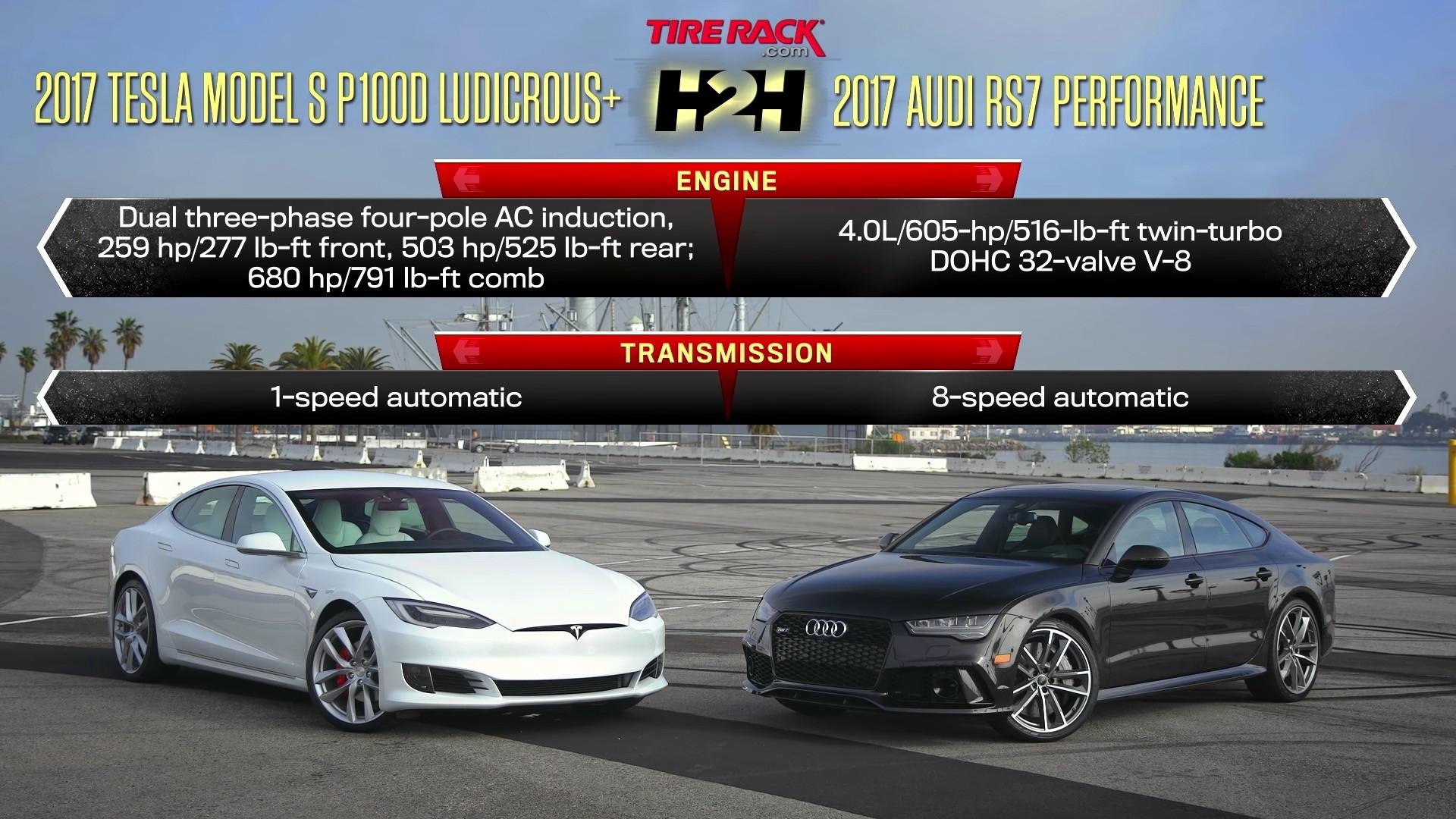 2017 Tesla Model S P100d Vs Audi Rs7 Performance Head 2 Ep