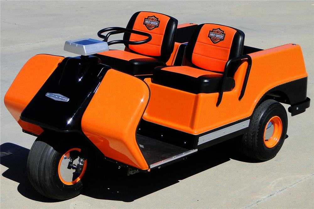it may look a bit weird but a perfetly restored harley davidson golf cart is up for grabs video_2 it may look a bit weird, but a perfetly restored harley davidson  at readyjetset.co