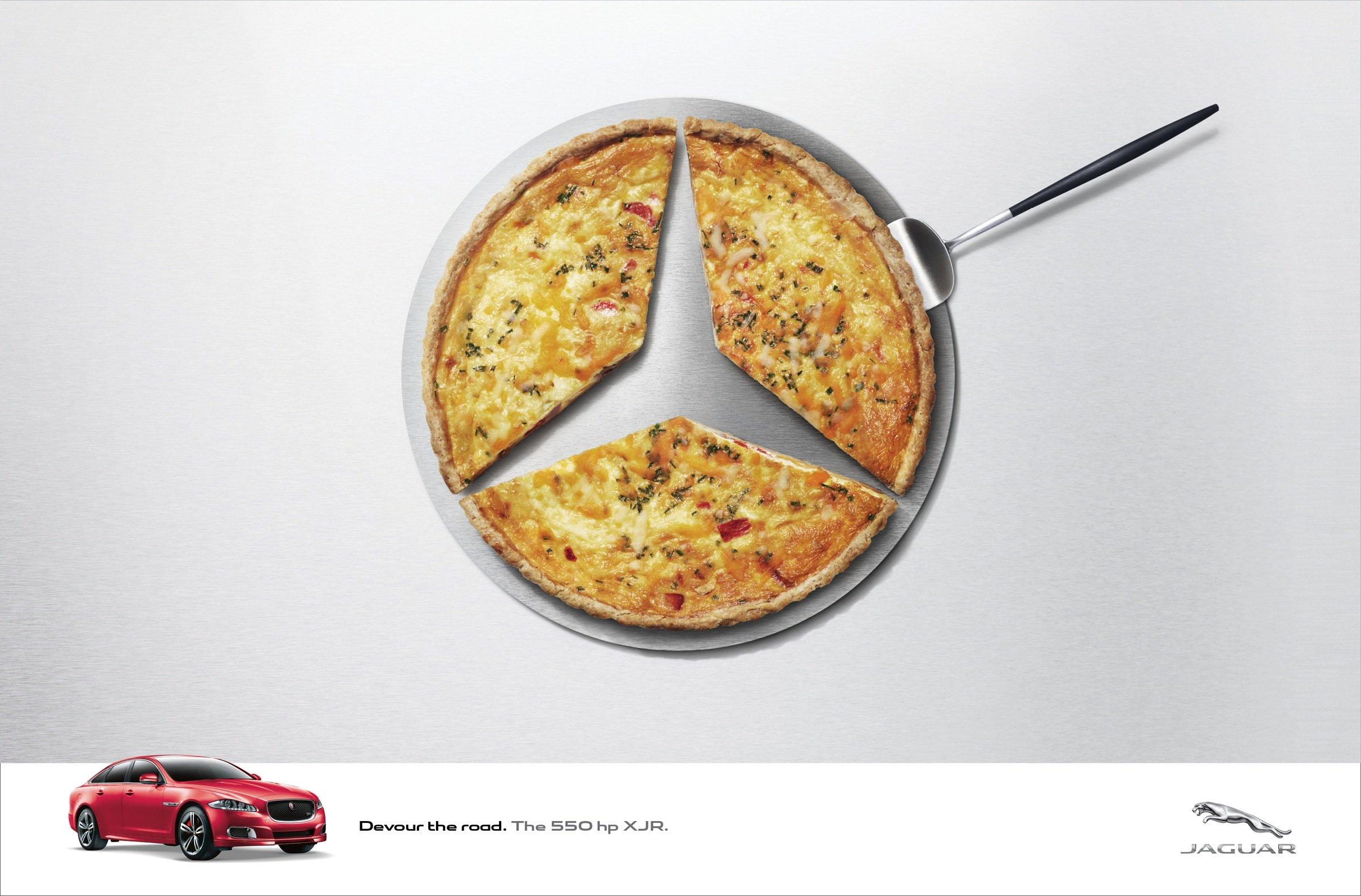 Ads: Jaguar Devours German Rivals' Logos With Creative Print