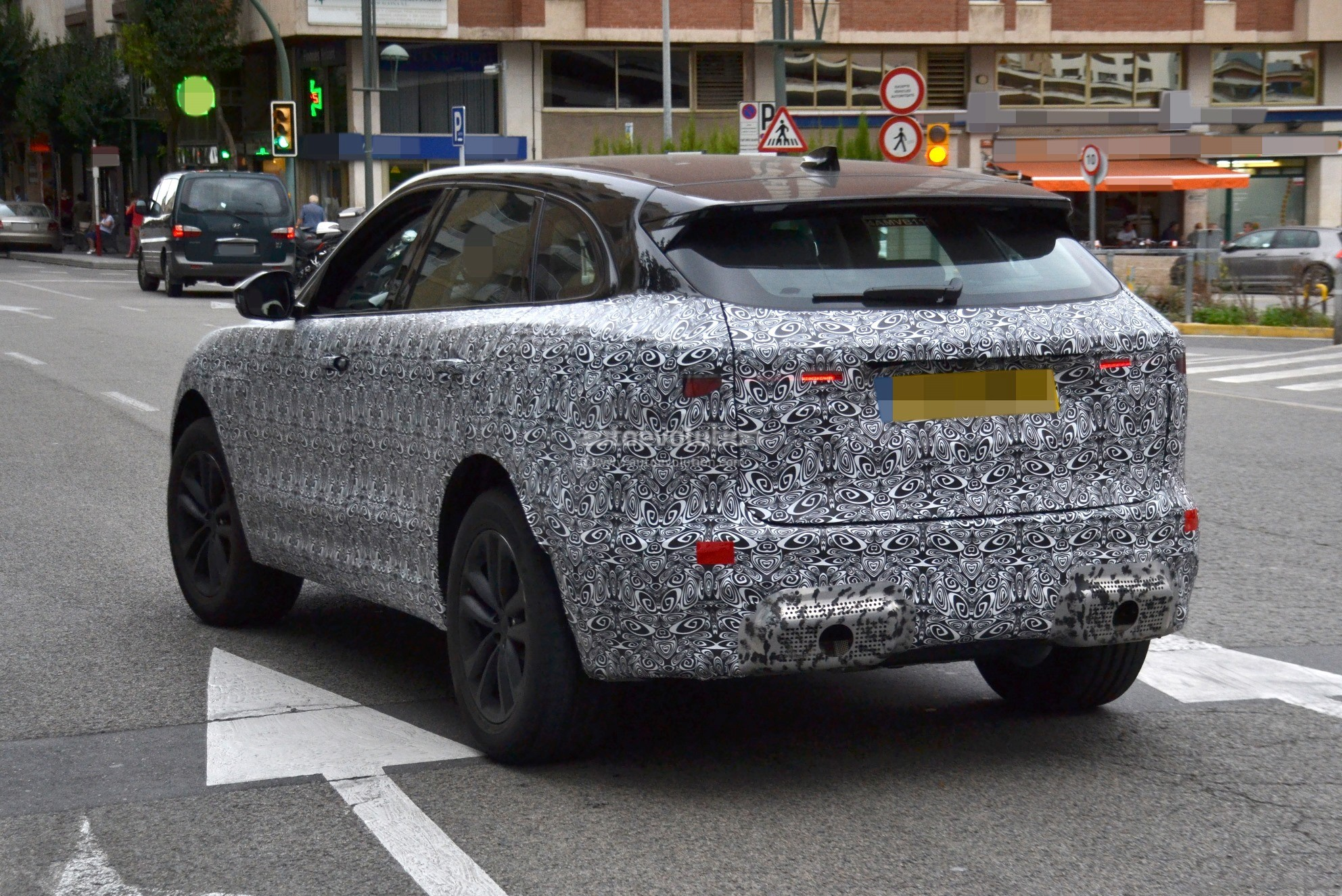 2021 jaguar fpace spied testing in spain looks more