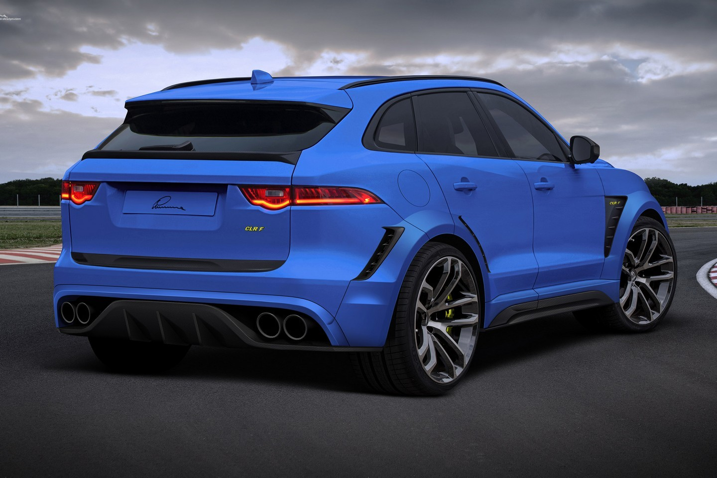 Jaguar F Pace Gets Widebody Kit And 24 Inch Wheels From Lumma Autoevolution