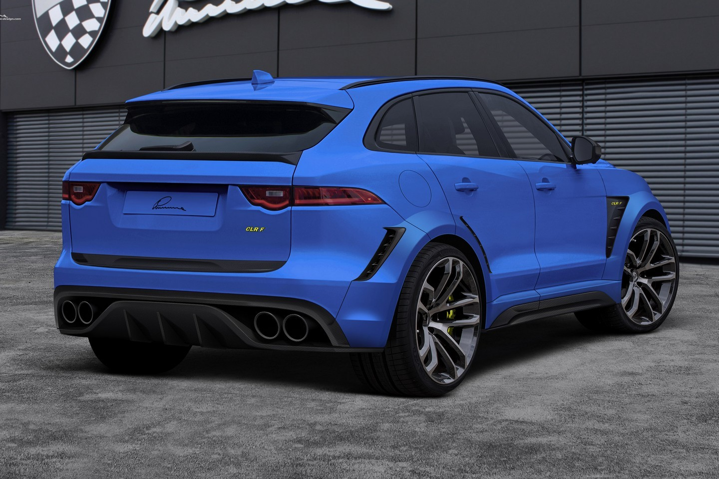jaguar f pace gets widebody kit and 24 inch wheels from lumma autoevolution. Black Bedroom Furniture Sets. Home Design Ideas