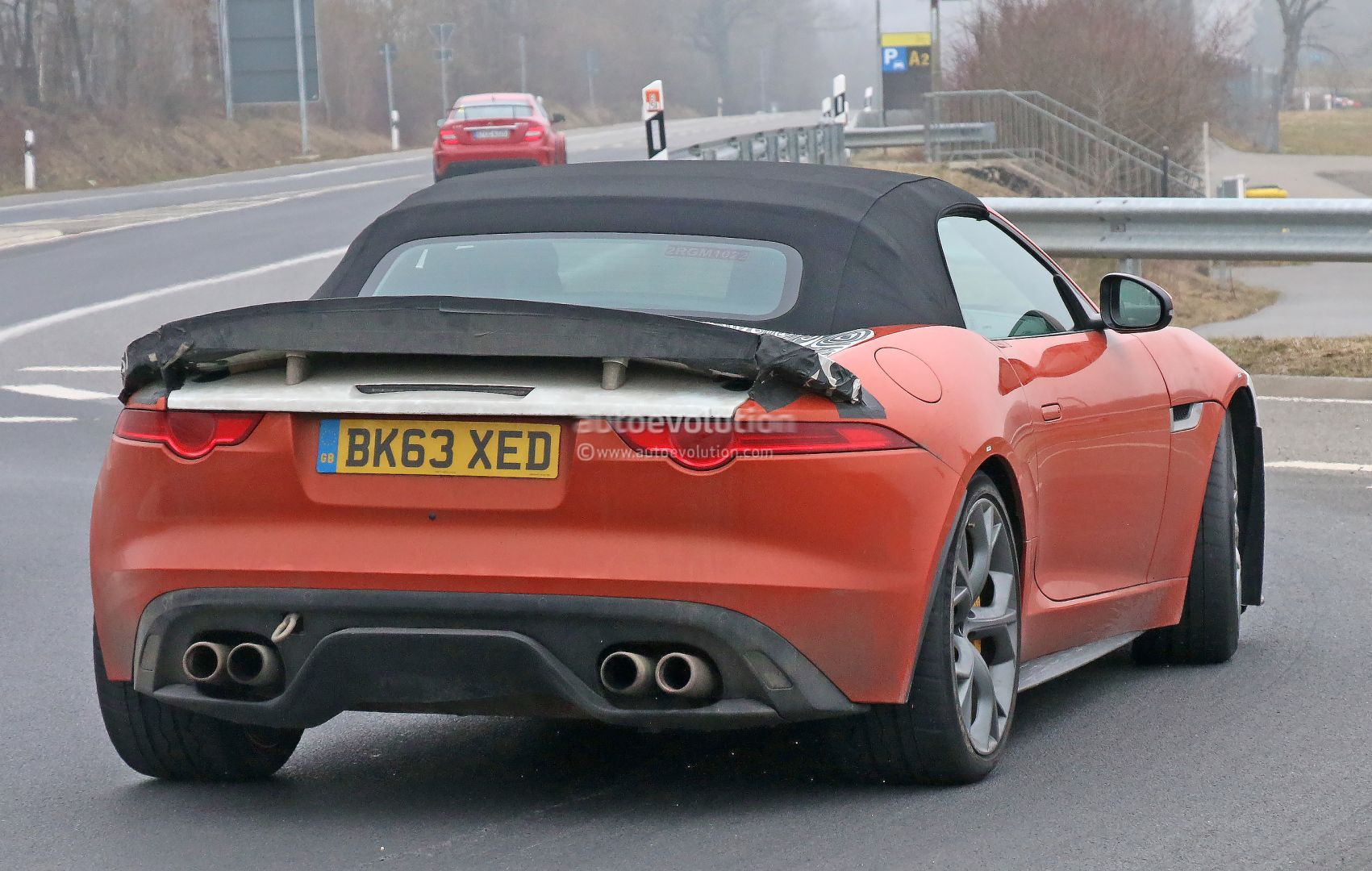 jaguar f type svr spied on nurburgring the fastest. Black Bedroom Furniture Sets. Home Design Ideas