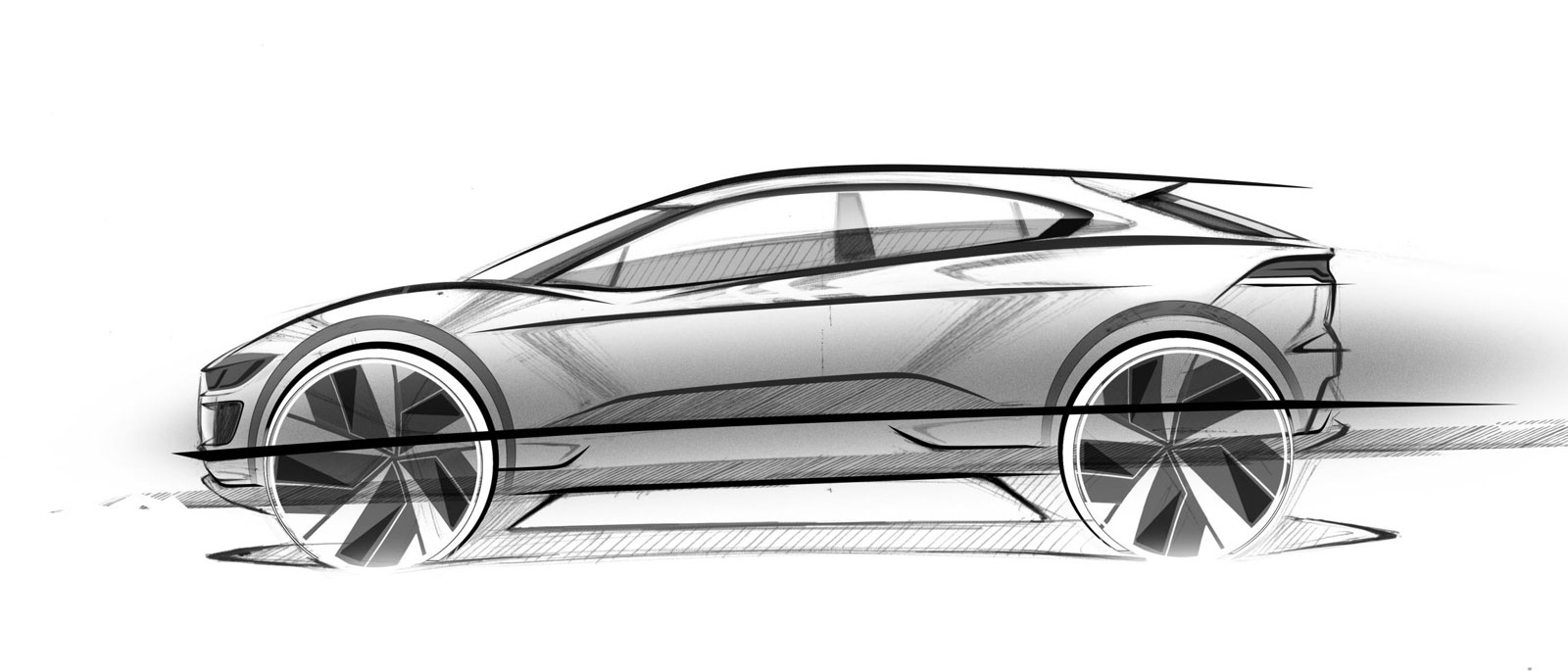 Jaguar I Pace Design Sketch ...
