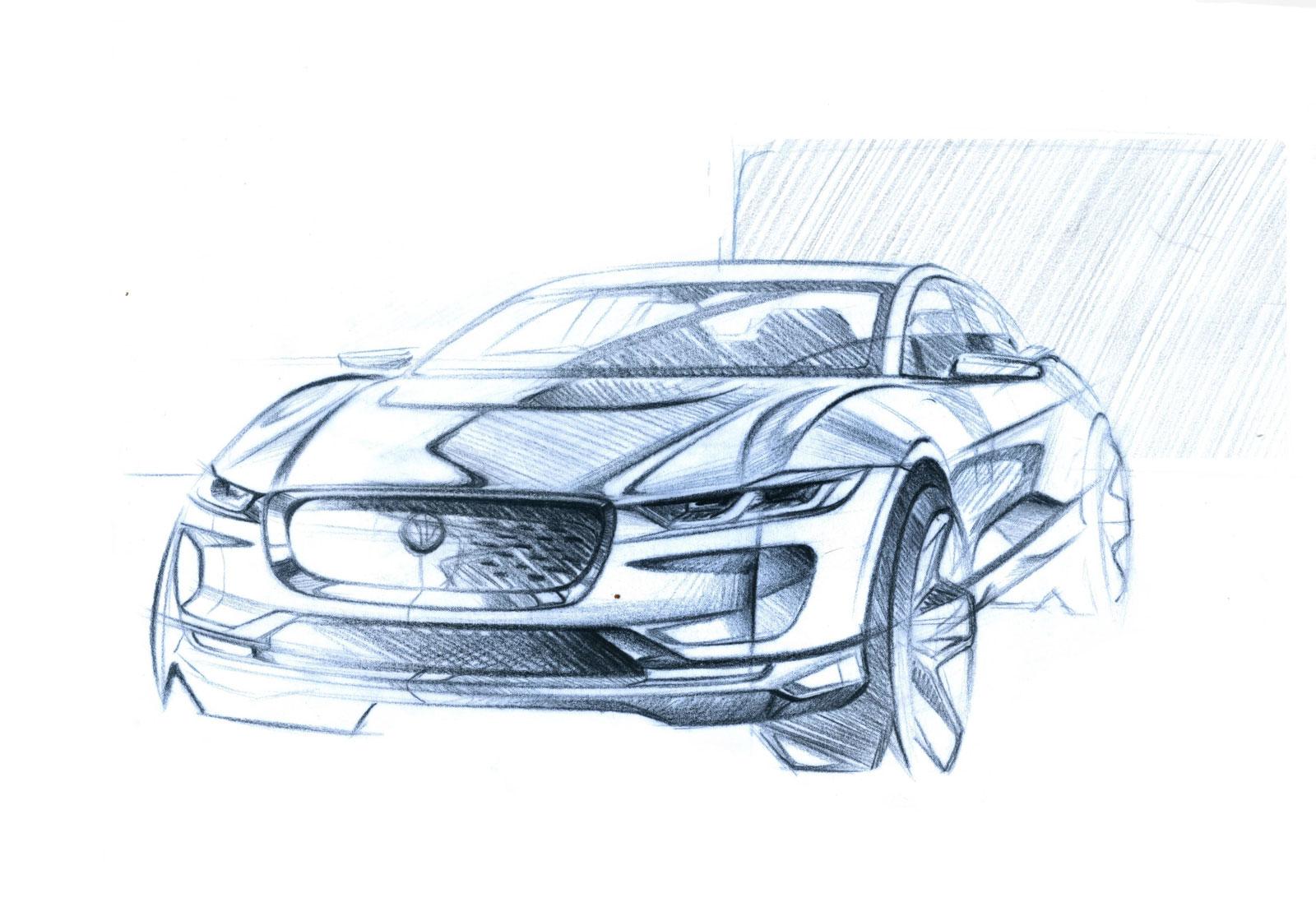 Jaguar I Pace Design Sketches Surface Autoevolution