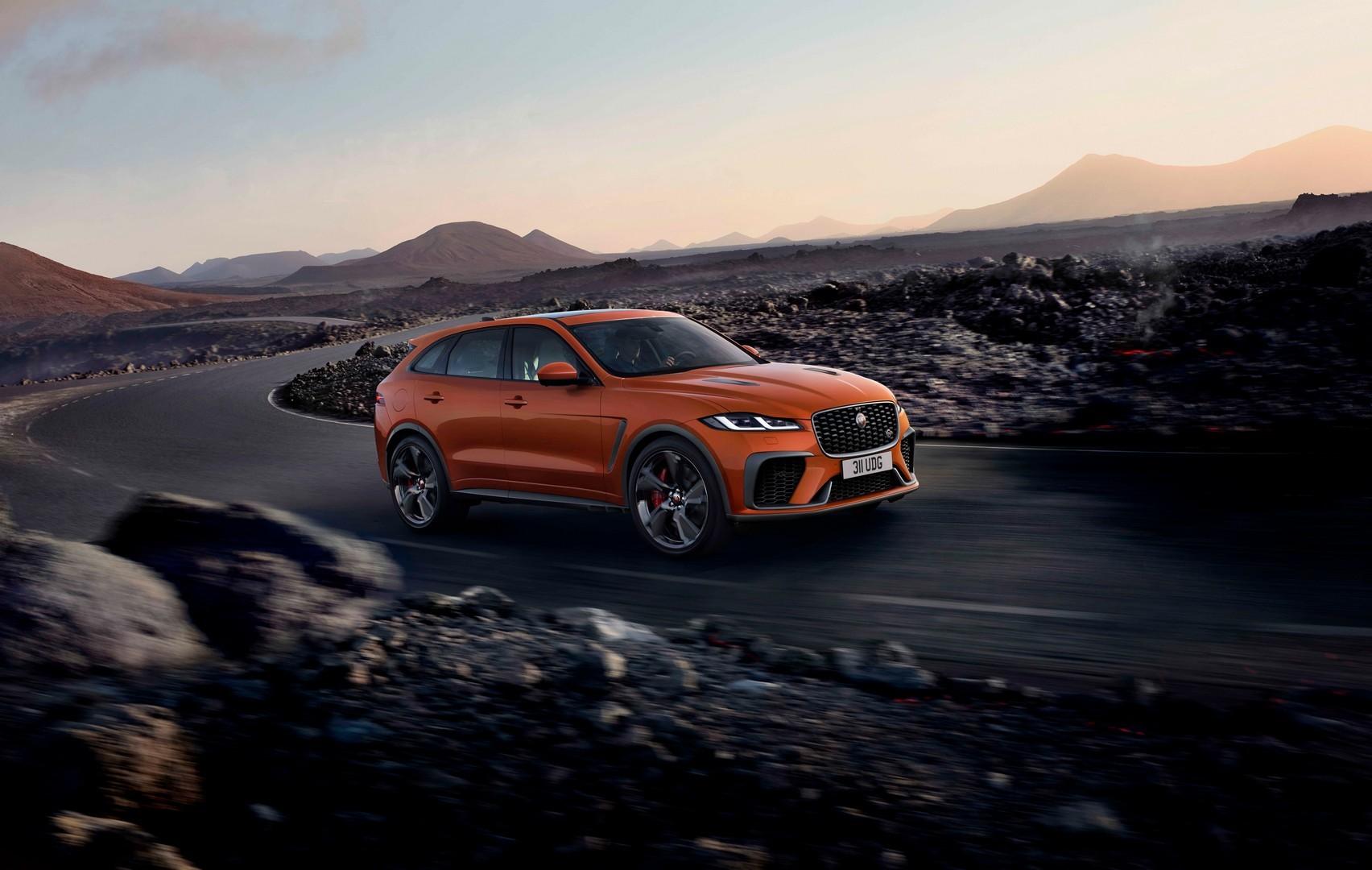 jaguar introduces dynamic launch to 2021 f-pace svr, goes