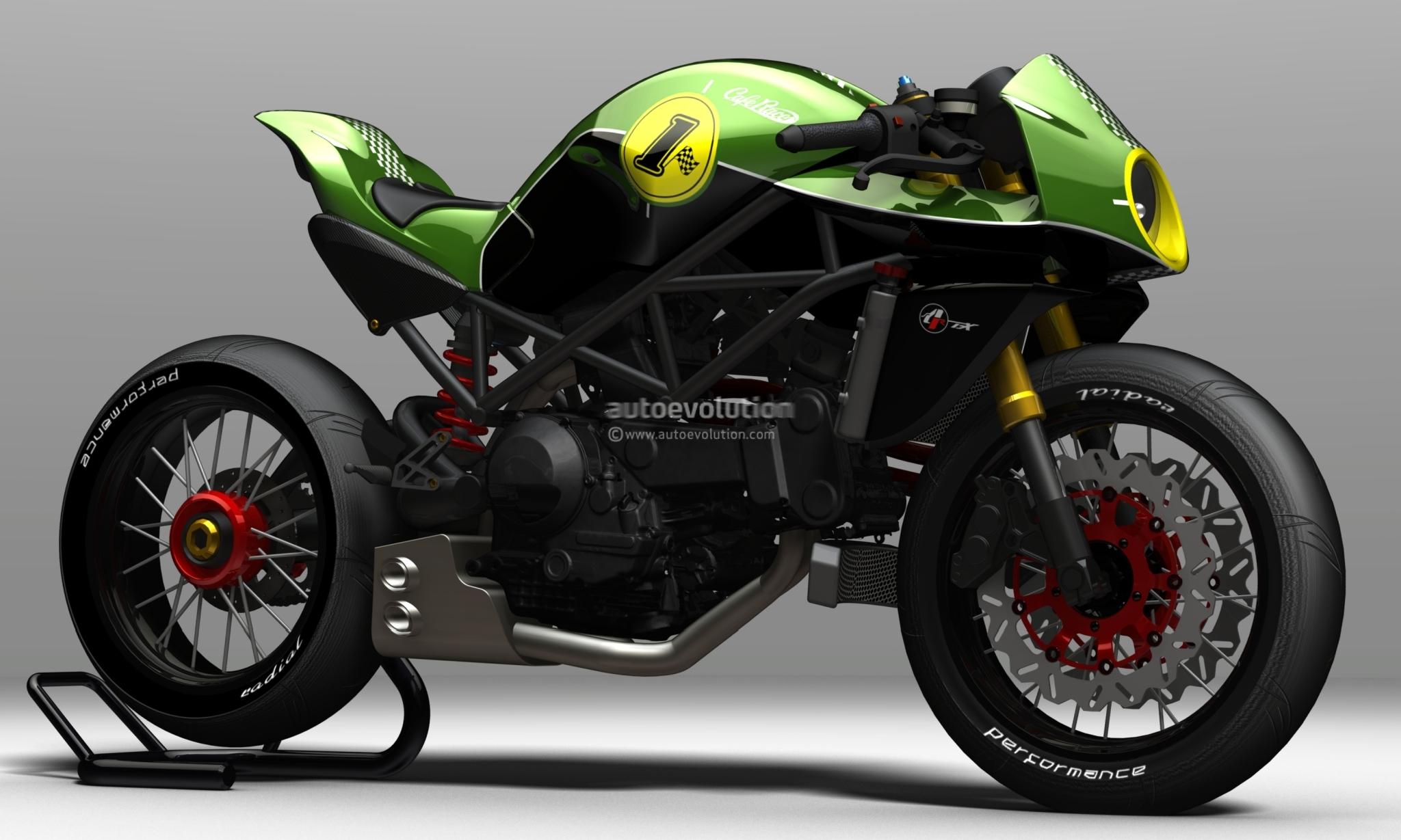 MotoGp: Ducati Cafè Racer Bodykit by Paolo Tesio