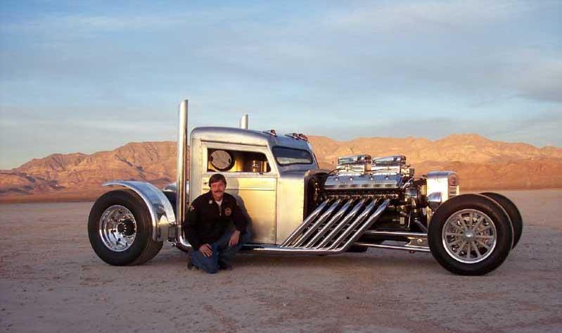 Jay Leno Checks Out Blastone S Two Stroke Diesel Peterbilt