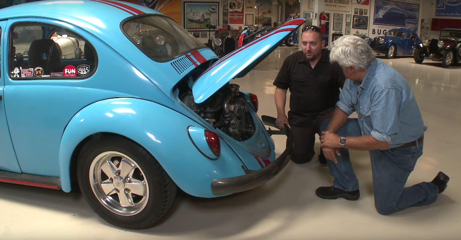 Jay Leno Checks Out Vw Beetle With Rx 7 Rotary Engine
