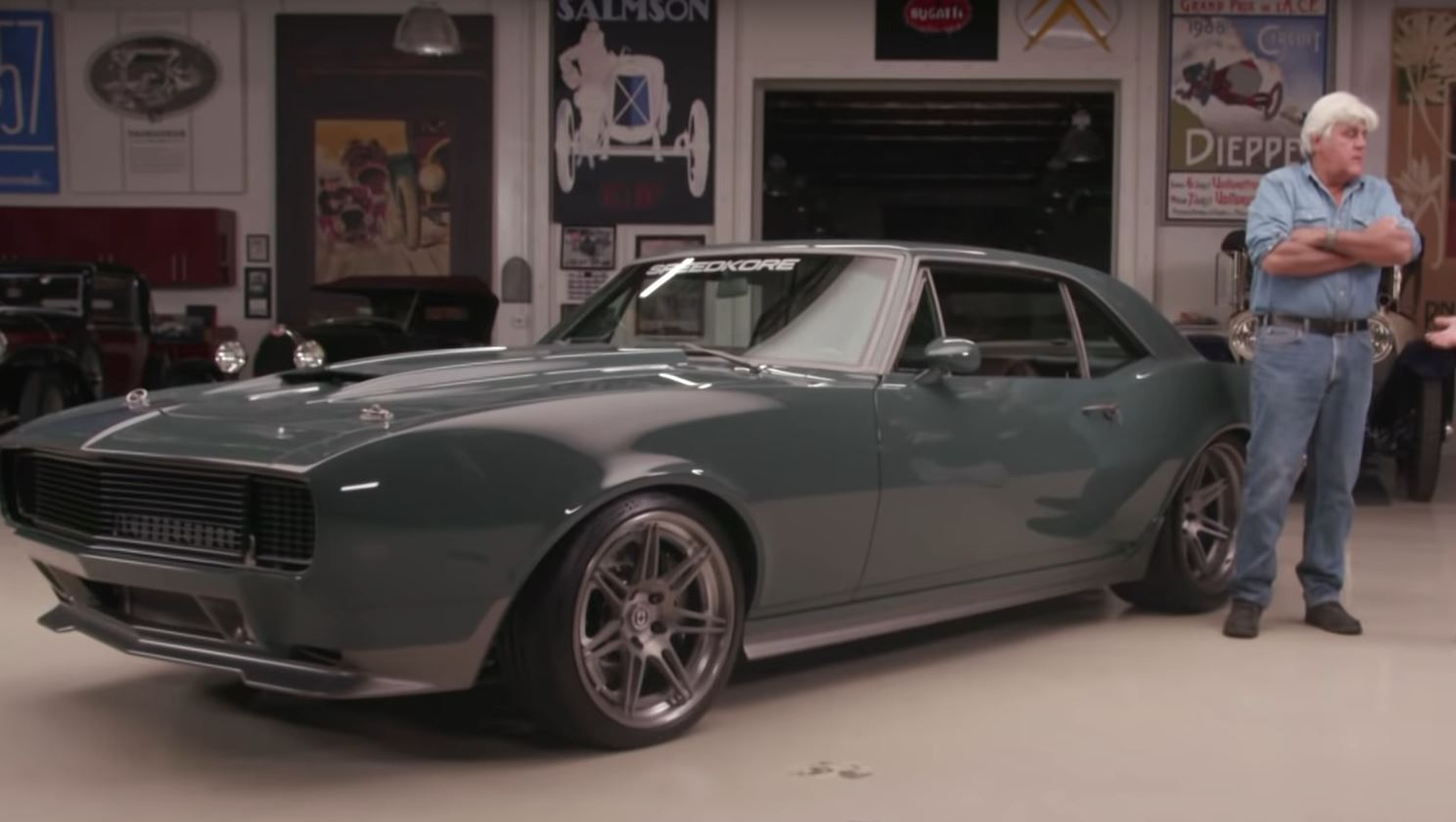 Jay Leno Drives 1967 Chevrolet Camaro Built For Chris Evans