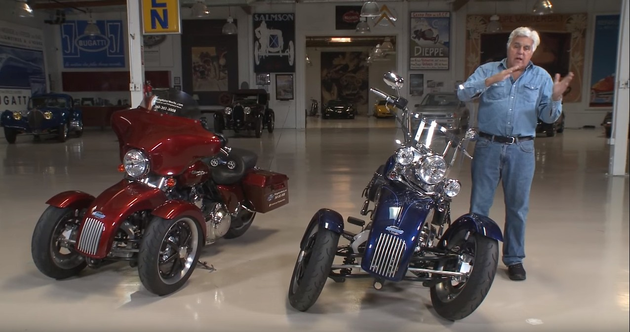 Jay Leno Tries a Tilting Motor Works Trike and Is ...