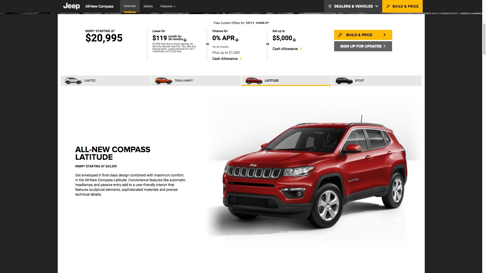 2017 Jeep Compass Priced From 20995 In The United States