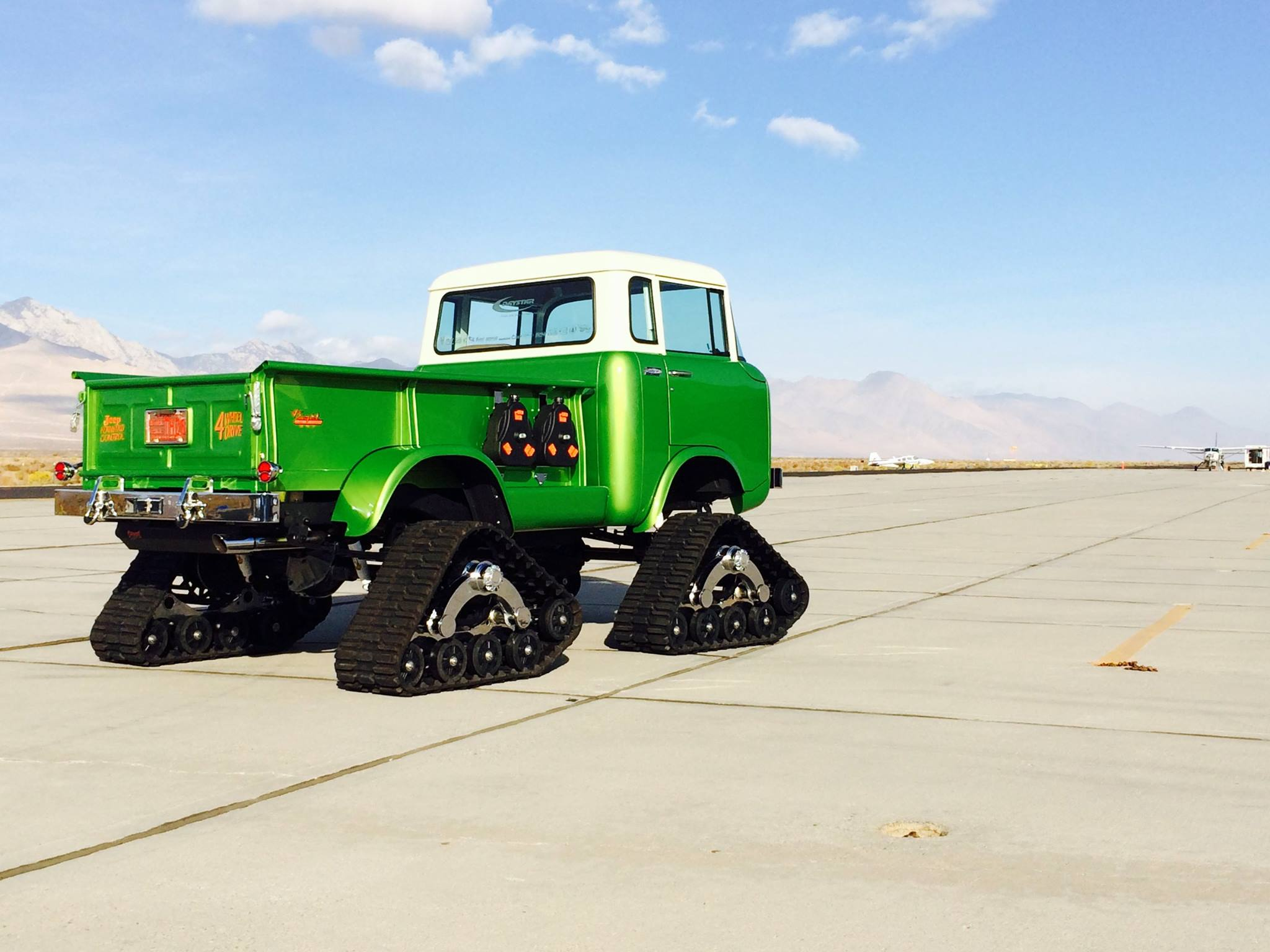 Jeep FC-170 Pickup Has Tracks, HEMI V8 and Acid Green Paint ...