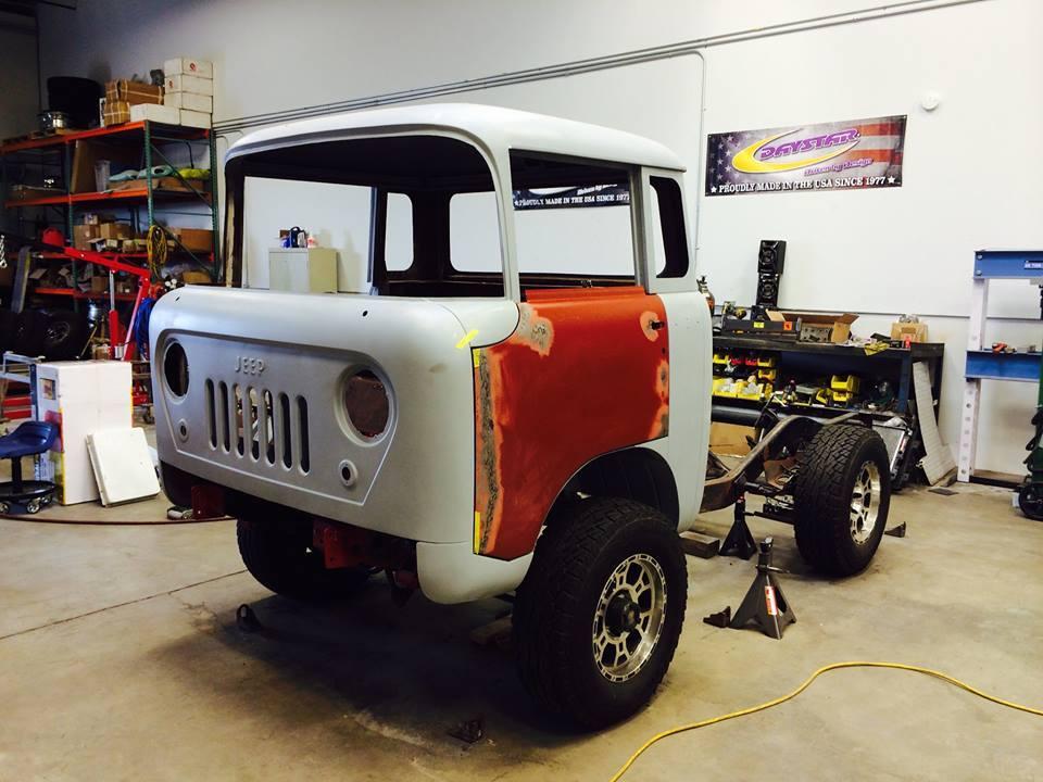 Jeep Fc 170 Pickup Has Tracks Hemi V8 And Acid Green