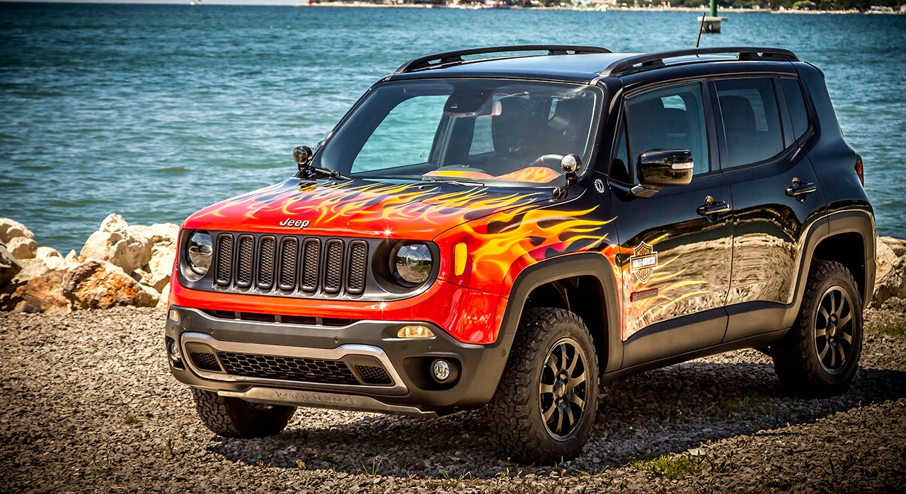 Harley Davidson Battery >> This Jeep Renegade is Flaming Hot, Celebrates 25th European H.O.G. Rally - autoevolution