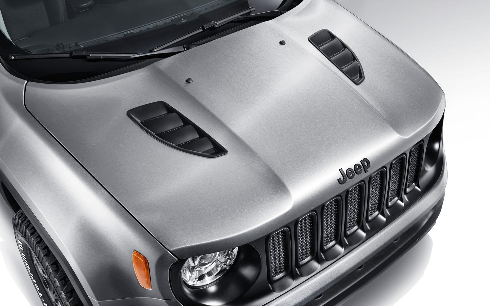 renegade jeep steel brushed pimped trailer gets geneva paint open hood autoevolution concept cool