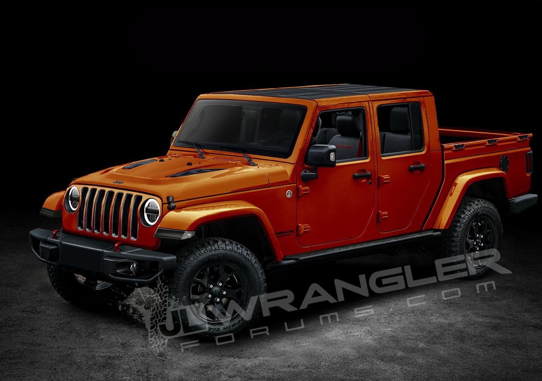 jeep wrangler pickup truck rendered based on spyshots two door model included autoevolution. Black Bedroom Furniture Sets. Home Design Ideas