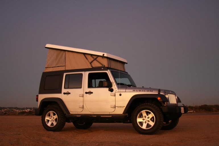 jeep wrangler pop top camper by ursa minor vehicles. Black Bedroom Furniture Sets. Home Design Ideas