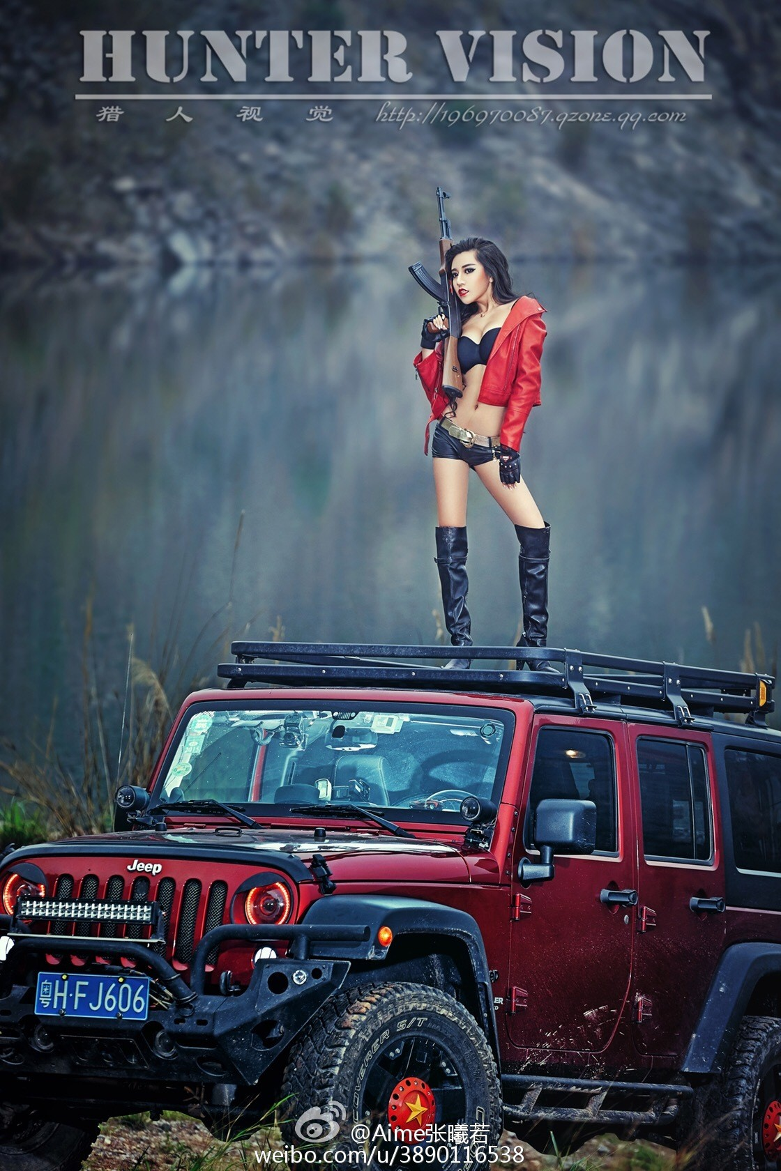 Jeep Cherokee 2014 >> Jeep Wrangler with Chinese Communist Star and Sexy Model Is Weird - autoevolution