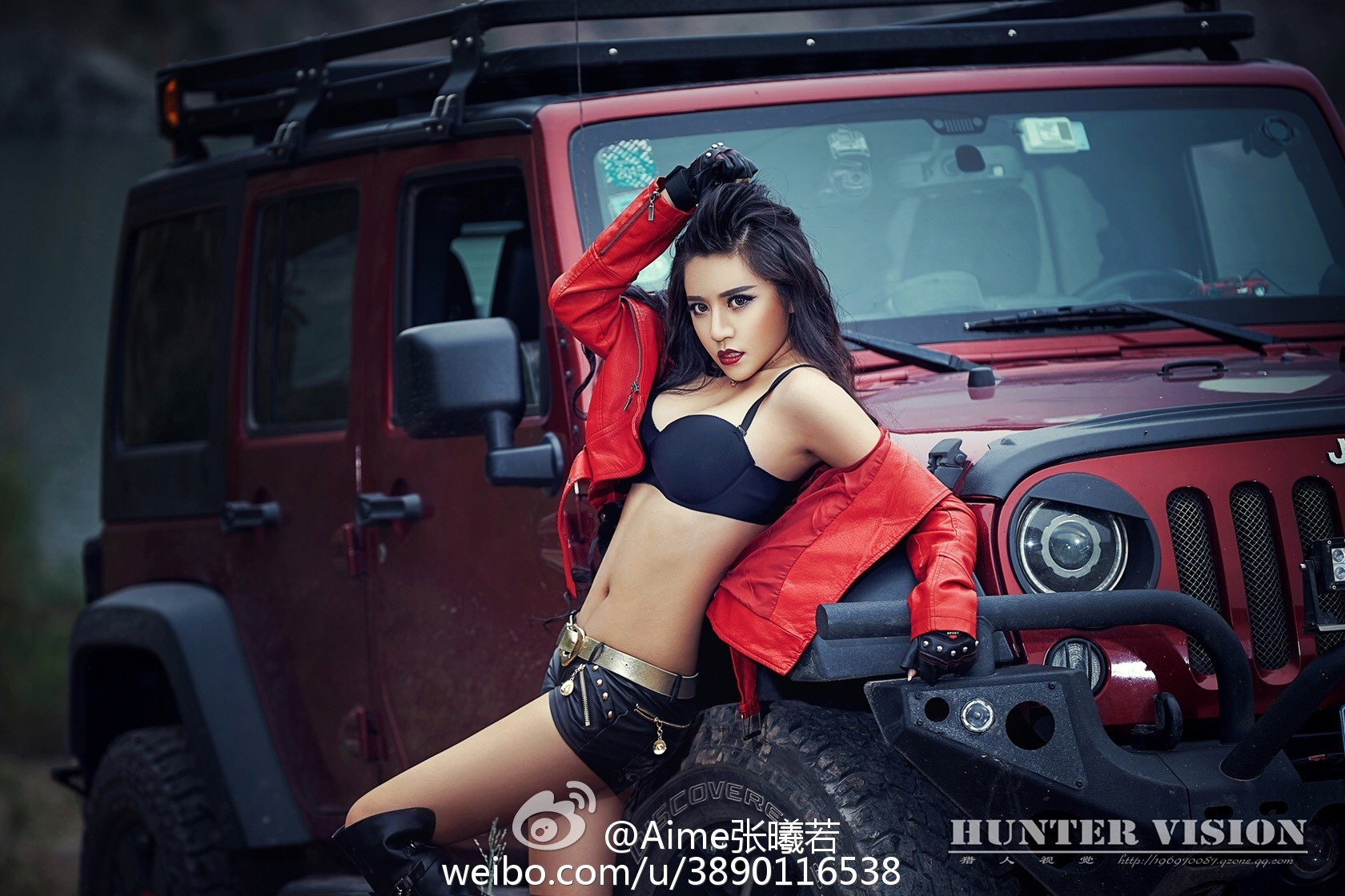 Jeep Wrangler with Chinese Communist Star and Sexy Model ...