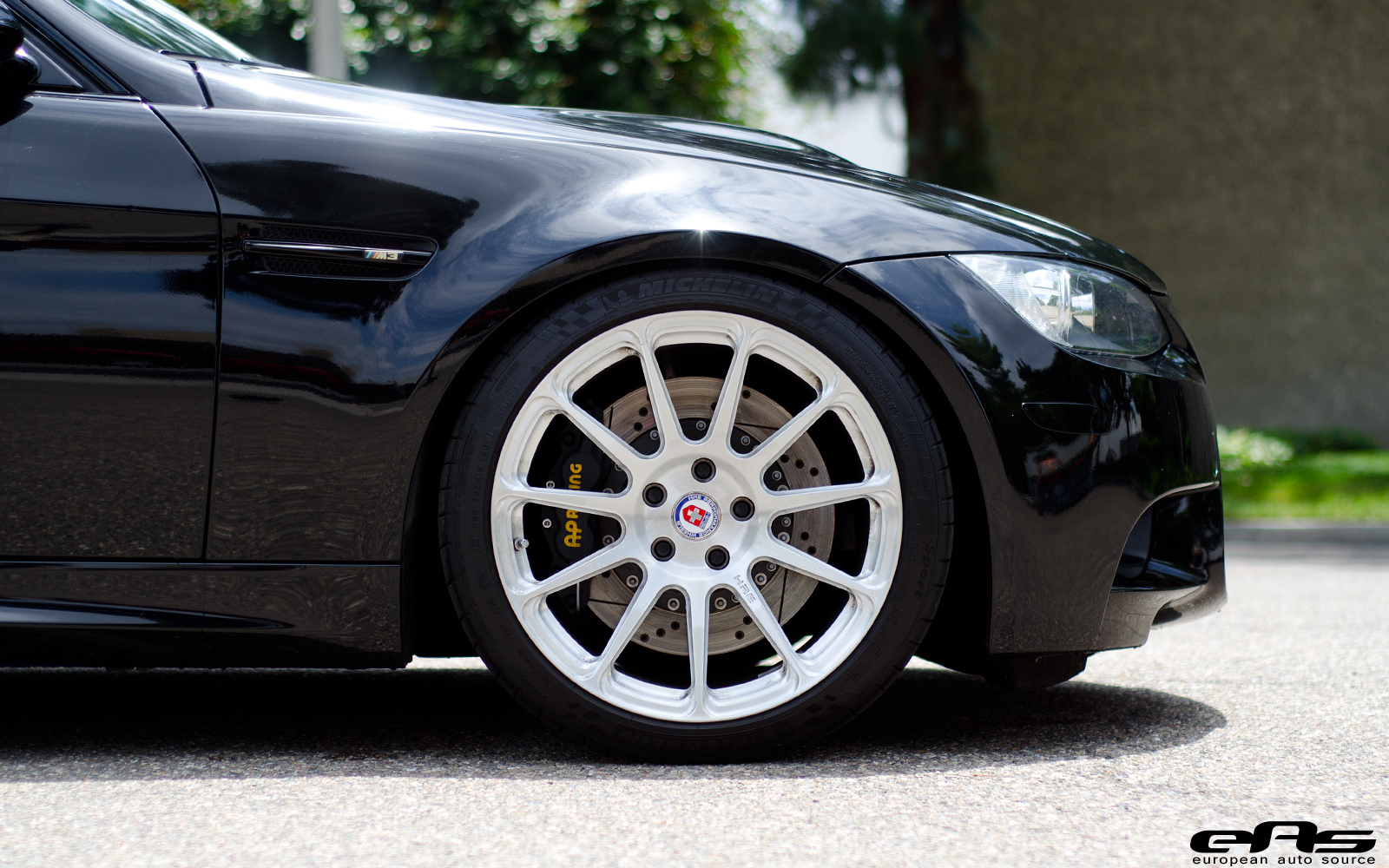 Jet Black Bmw E90 M3 Rides On White Hre Wheels From Eas