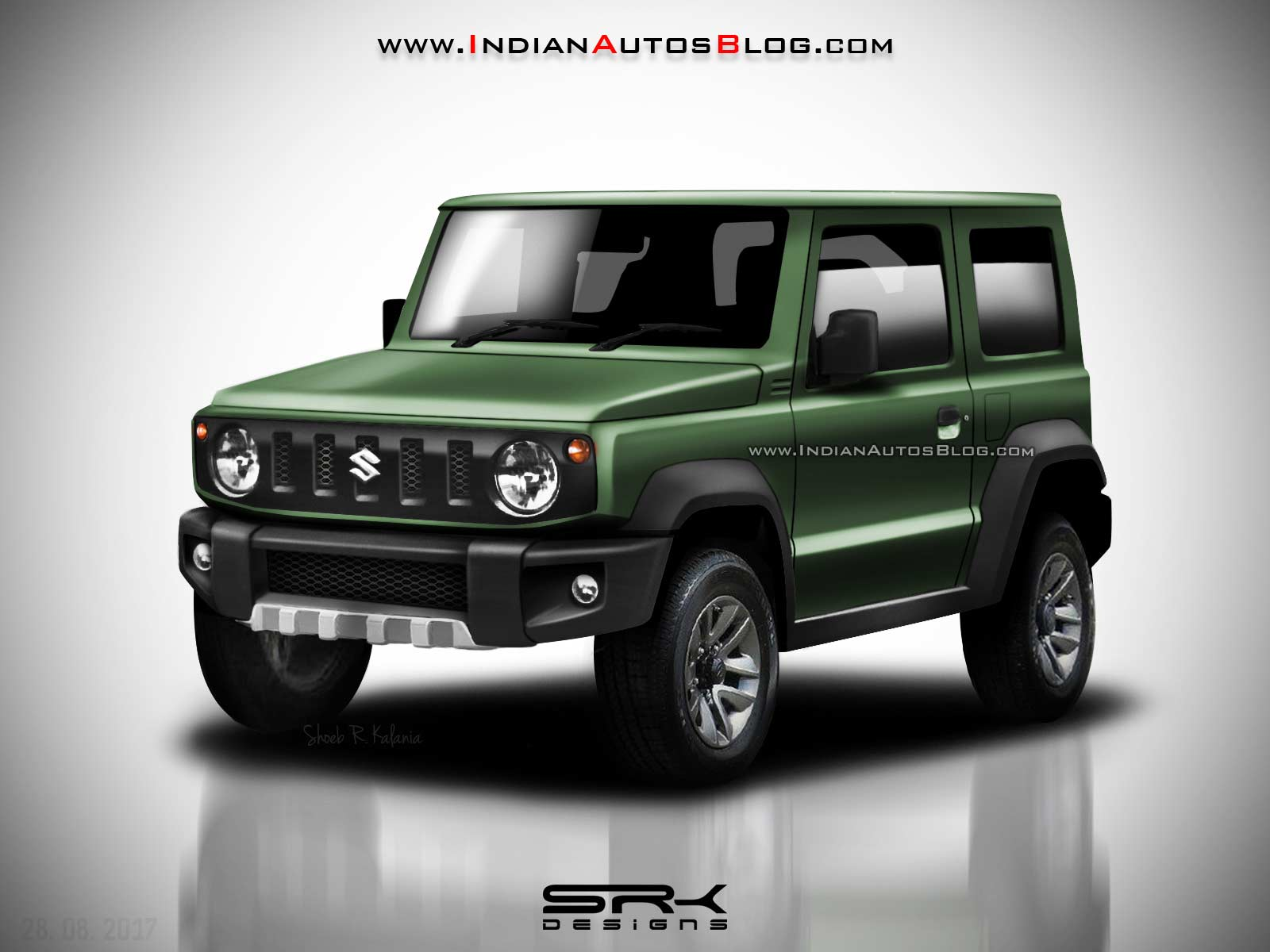 Suzuki Jimny Masterfully Rendered Looks Eager To Debut - Tokyo car show 2018