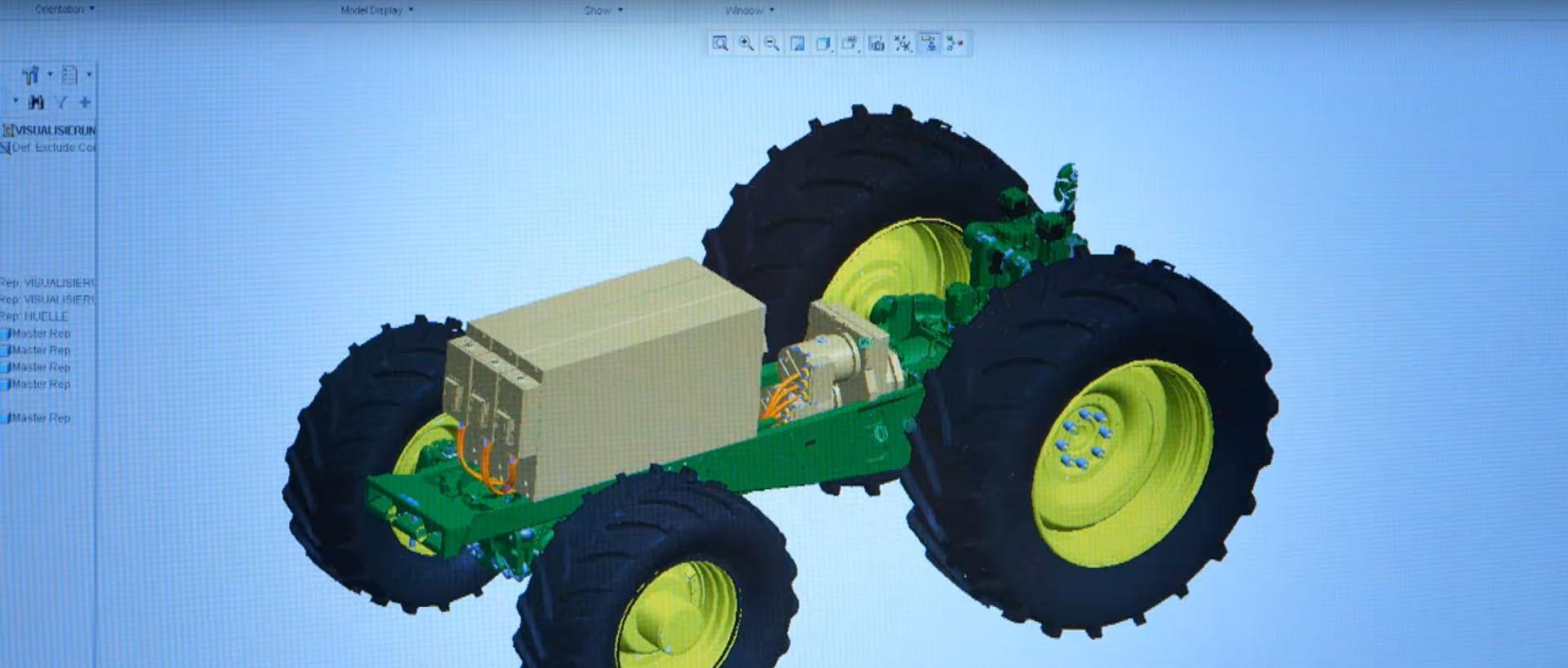 John Deere Reveals 180 Hp Battery Powered Tractor For 2016